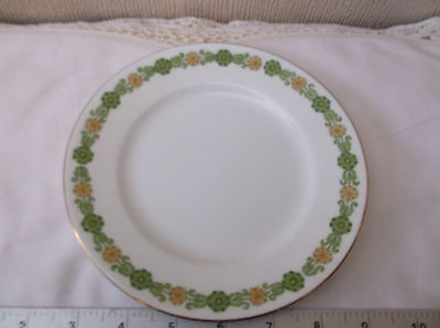 Shelley Late Foley tea plate in green - Made in England