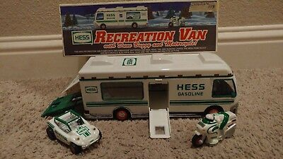 Hess 1998 Recreation Van with Dune Buggy and Motorcycle In box