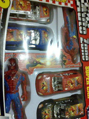 Spiderman Car Set With Action Toys