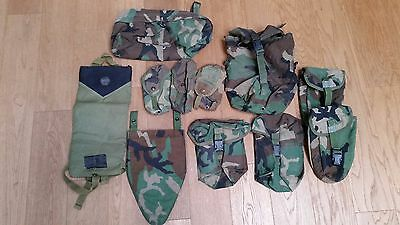 US ARMY MOLLE Woodland Lot OTV Groin Cover, SAW Pouch, MAG Pouch etc USMC