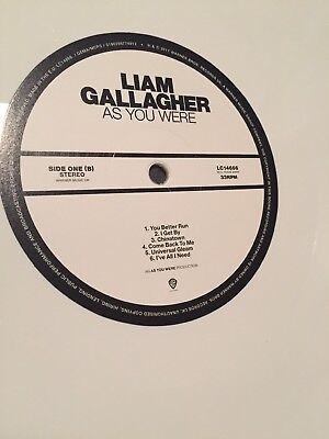 "Liam Gallagher  **LABEL MISPRINT** 'As You Were' 12"" Vinyl Record LP Oasis rare"