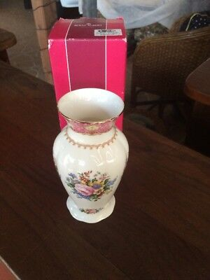 Royal Albert Lady Carlyle Vase. Boxed