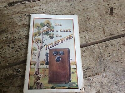 Vintage Timber Phone Manual Great Old Booklet