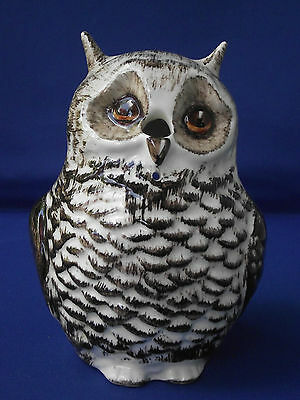 Babbacombe Pottery England Pointy Eared Owl String Holder Feather Hand Painted