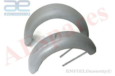 Lambretta D Model Ld Front&rear Raw Steel Mudguard Fenders Set With Stays @aus