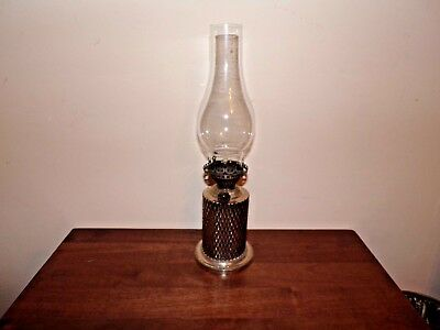 Antique Silver Plated Oil Lamp with Hinks & Son burner RD,NO 104895 RH.RH marks