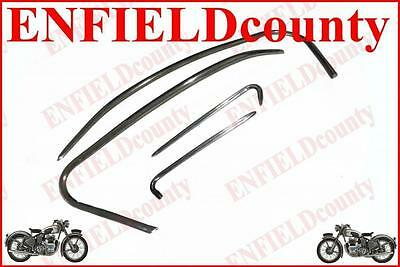 New Aluminium Polished Cowl Panel Mudguard Trim Set Vbb/vsb Scooter Scoot @aus