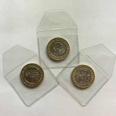 William Shakespeare Set 3 £2 Coins Two Pounds Comedy Tragedy History Skull Joker