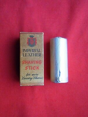 A VINTAGE BOXED IMPERIAL LEATHER SHAVING STICK By CUSSONS. MADE in GREAT BRITAIN