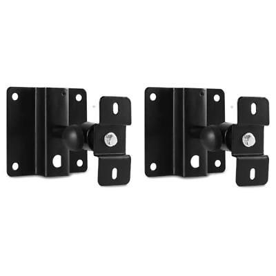 Metal Wall Mounting Speaker Bracket Set Ball Headlocking Screw Univesal Black
