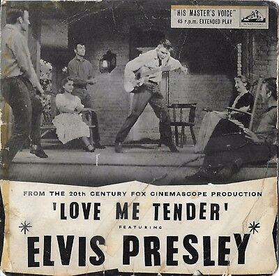 "Elvis Presley - Love Me Tender (HMV 7EG 8199 UK Original 7"" EP"