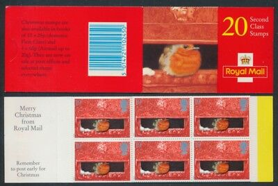 1995 SG LX10 20 X 2nd CLASS CHRISTMAS STAMPS BOOKLET