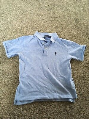 Boys Pale Blue Polo Shirt By Ralph  Lauren Size 5 Would Fit Aged 5-6