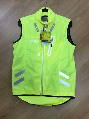 Hi Vis Cycling Vest with integrated lights