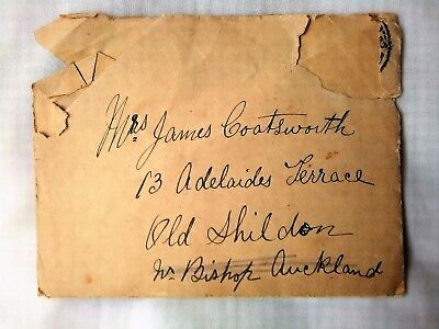 Old Letter Easington Colliery - Adelaide Terrace SHILDON 1st Guards Brigade BEF