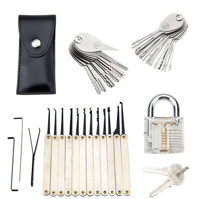12Pc Schloss Padlock Picking Kit Traing Tool & 20Pc Foldable Schlosser Equipment