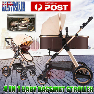 2017 Baby Stroller Pram & Bassinet 4 in 1 Newborn Baby jogger Folding Pushchair
