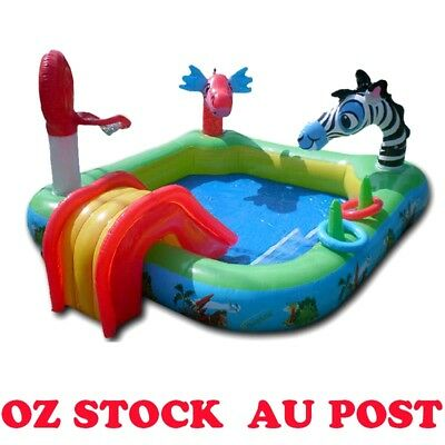 Inflatable Water Play Centre Swimming Pool Water Slide Sprayer Kids Activity OZ