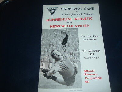Dunfermline v Newcastle Utd Dec 1963 Cunningham + Williamson testimonial