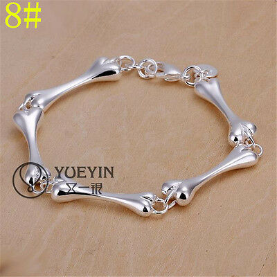 Fashion Jewelry Solid Silver Womens 925 Sterling Silver Charm Bracelet
