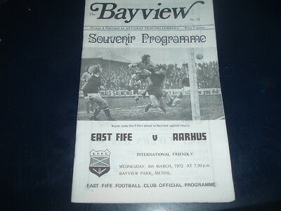 East Fife v Aarhus March 1972 friendly