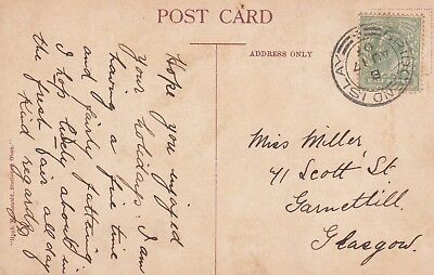 L 2545 Bridgend Islay Inner Hebrides  August 1917 postcard; front has Bridgend