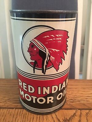 Red Indian Motor Oil Quart Can
