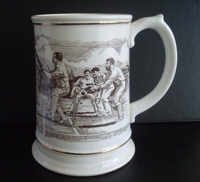 "Franklin Porcelain ""The Ashes"" Large Centenary Tankard-Cricket Ashes memorabilia"