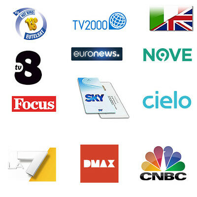 Sky Italia FREESAT Viewing Card – Watch LA7 – GIALLO – DMAX – FOCUS