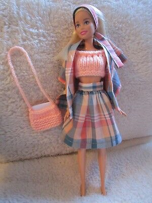 """Hand Knitted 12"""" Dolls / Barbie / Teenage / Clothes / Outfit"""