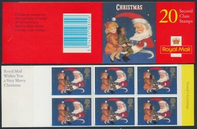 1997 SG LX14 20 X 1st CLASS CHRISTMAS STAMPS BOOKLET CYLINDER NUMBERS IN MARGIN