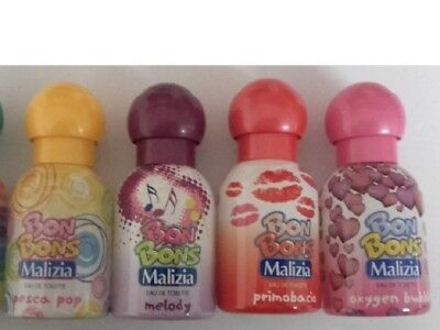 4 x MALIZIA Bonbons Bubble, Melody,Pesca Pop EdT 50ml