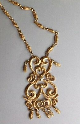 Vintage D' Orlan  Gold Plated ' Statement' Necklace.