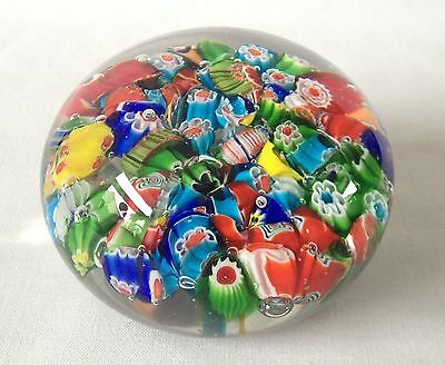 Millefiori Glass Paperweight - Clourful glass paperweight -