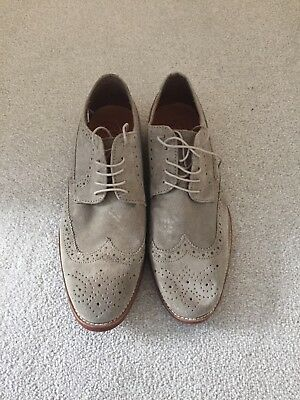 Men's M&S Beige Brogue Shoes - UK 9