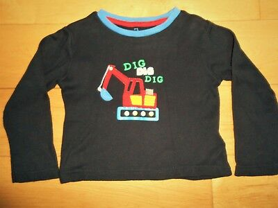 EARLY DAYS BABY BOYS DIGGER APPLIQUE LONG SLEEVE TOP, size 18-24 months, VGC!