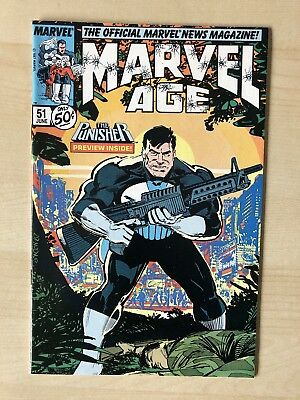 Marvel Comics MARVEL AGE #51 Punisher VF/NM June 1987 NETFLIX *RARE*