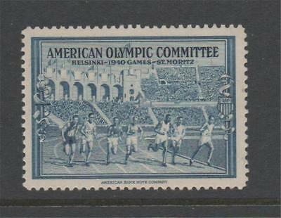 Usa 1940 Olympic Commitee Label Mnh