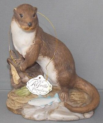 Alfretto Porcelain Otter Collection Series Figurine