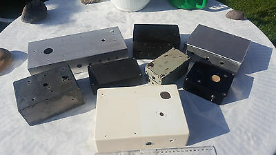 8 Project Boxes Used, Various Sizes, Ham Radio Qrp Vfo Tx Rx Homebrew