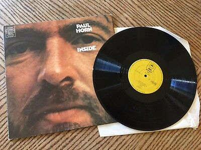Paul Horn – Inside: Epic 65291 Gatefold 1972 A3/B3   yellow label: Excellent