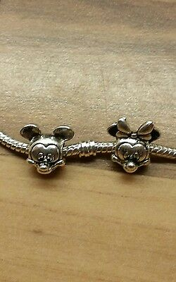 novelty mickey and Minnie Mouse disney Charms. stamped pandora S925