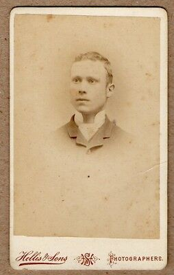 Victorian Carte de Visite photo by Hellis & Sons of London. Young man