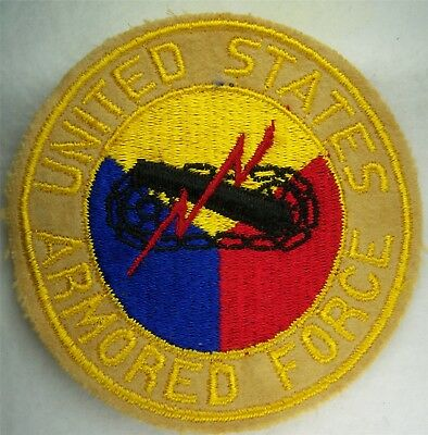 Original: Pre War / WW 2  Armored Force PX / Jacket / Pennant   Wool  Patch