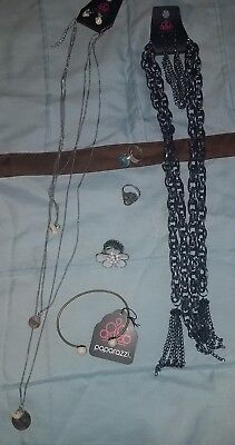 jewelry lot #1 new paparazzi and .925. necklaces, earrings, rings and bracelet.
