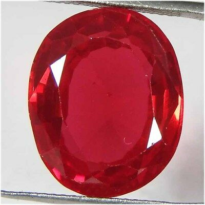 17.90CtsNatural red ruby Imitation oval cut cabochon ring size loose gemstone