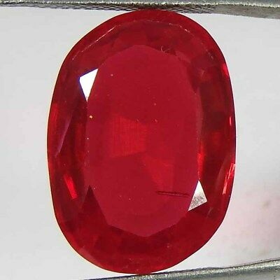 19.85CtsNatural red ruby Imitation oval cut cabochon ring size loose gemstone