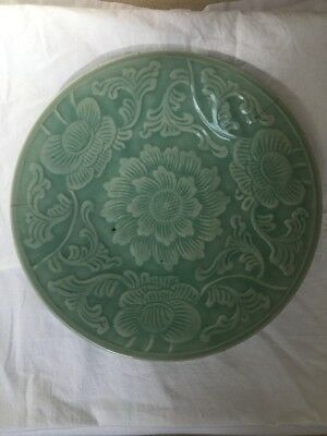 Antique Chinese Green Celadon Plate