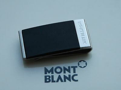 Montblanc Money Clip  in Matt Brushed Stainless Steel And Rubber Brand New