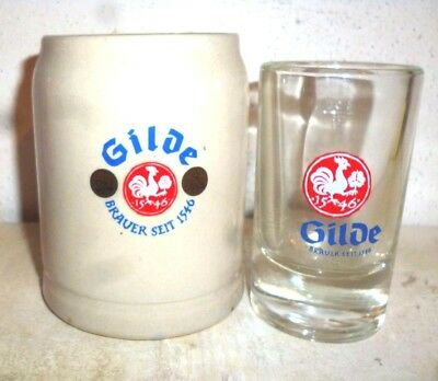 2 Gilde Hannover German Beer Stein & Glass